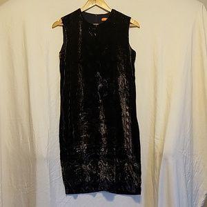 Joe Fresh Navy Paisley Velvet Dress sz 0
